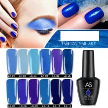 """Гел лак за нокти AS Anothersexy, колекция """"Art blue"""" в 12 нюанса на синьото ZJY23"""