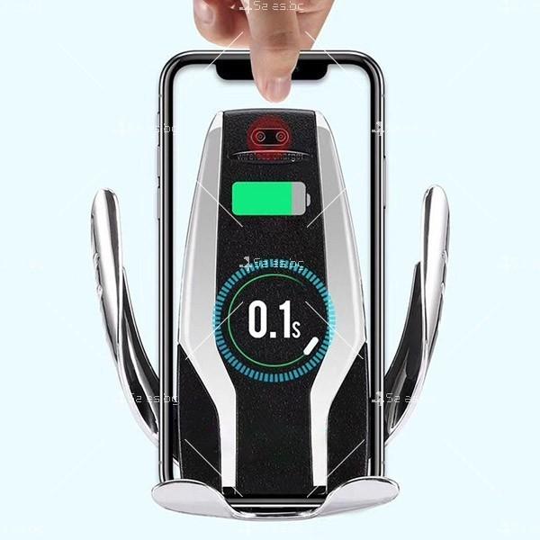 Поставка за телефон с вградено безжично зарядно за кола Smart sensor s6 TV157 4