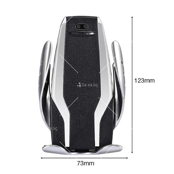 Поставка за телефон с вградено безжично зарядно за кола Smart sensor s6 TV157 5
