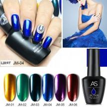 UV гел лак за нокти AS Anothersexy, в 6 варианта на огледални цвята ZJY4