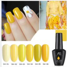 Висококачествен UV гел лак за нокти AS Anothersexy, в 6 нюанса Lemon yellow ZJY7