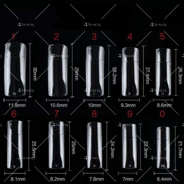 Изкуствени нокти в различни форми по избор ZJY50 2
