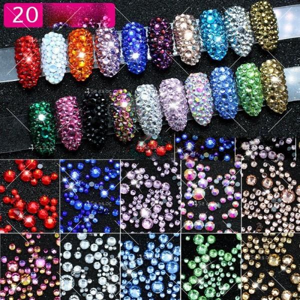 Блестящи кристали за декорация на нокти ZJY51 1