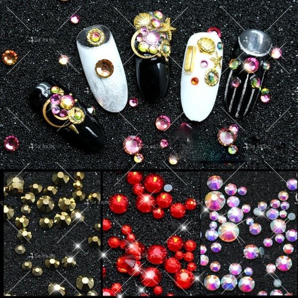 Блестящи кристали за декорация на нокти ZJY51 2