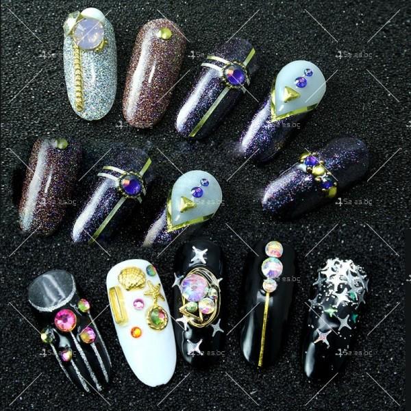 Блестящи кристали за декорация на нокти ZJY51 3