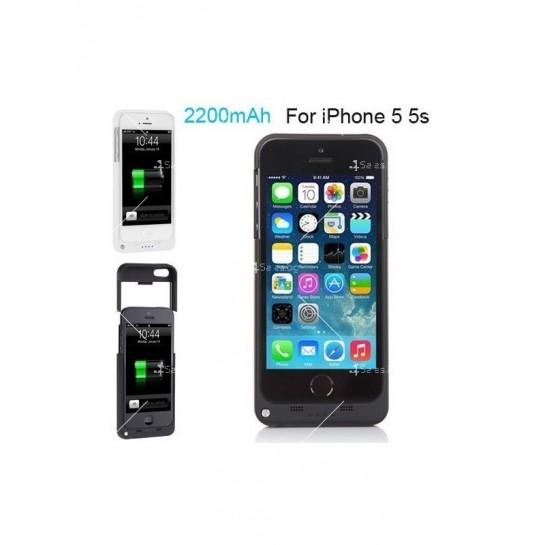 Калъф 2 в 1 с вградена батерия за Iphone 5/5S/5C TV328