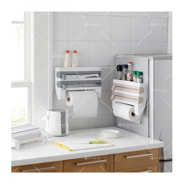 Поставка за кухненска хартия и фолио Triple paper TV387 1