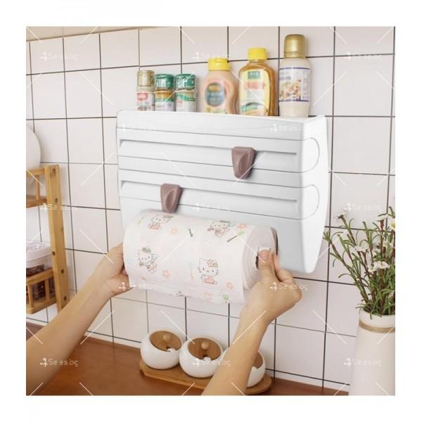 Поставка за кухненска хартия и фолио Triple paper TV387 6