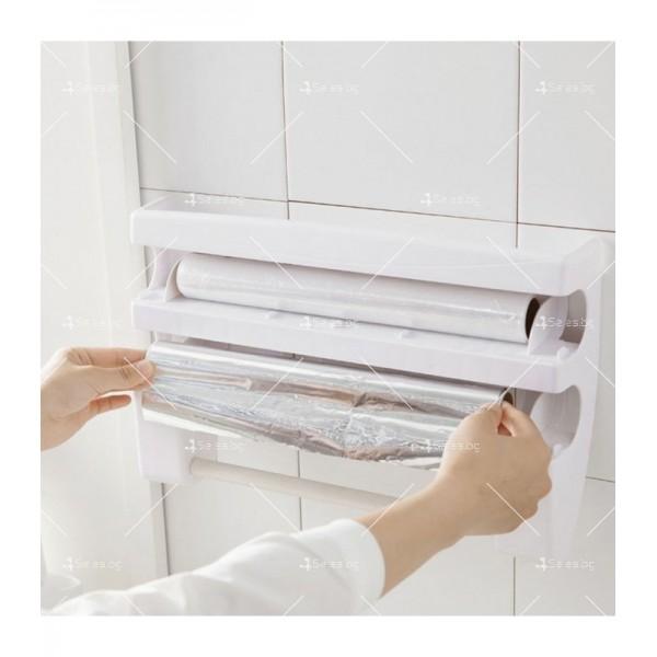 Поставка за кухненска хартия и фолио Triple paper TV387