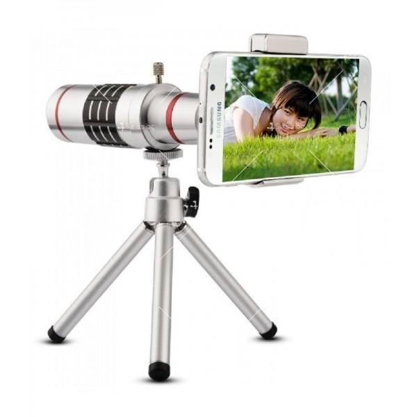 Универсален телескоп за телефон или таблет с увеличение 18х TV227