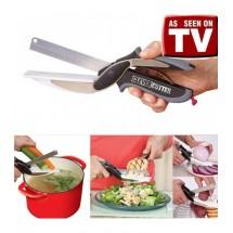 Ножица 2 в 1 за зеленчуци и месо Clever Cutter + дъска TV261