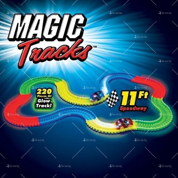 Magic Tracks Детска светеща писта 220 части WJ31 1