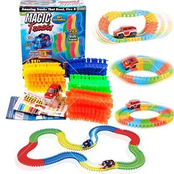 Magic Tracks Детска светеща писта 220 части WJ31