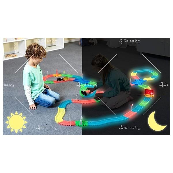 Magic Tracks Детска светеща писта 220 части WJ31 4