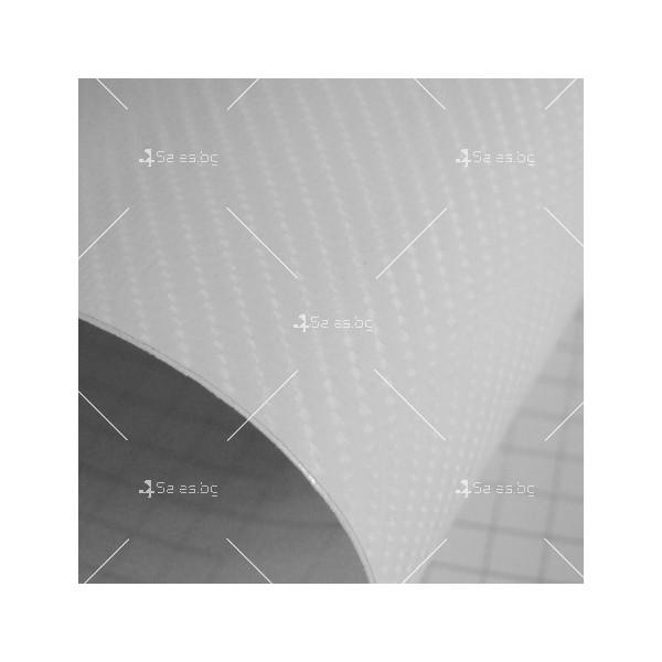 Фолио за автомобил - Бял карбон 127 см ширина 2