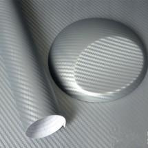 Фолио за автомобил сив карбон еластичен с ширина 127 см.