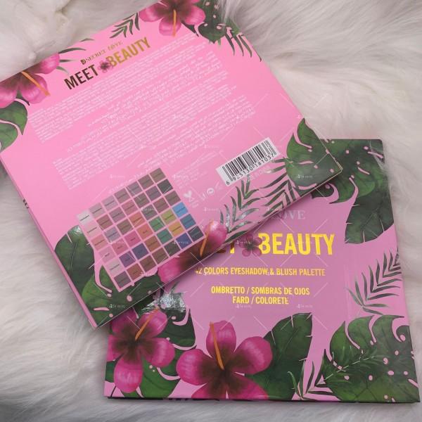 Палитра сенки за очи в с 42 цвята Meet beauty Hzs125 2