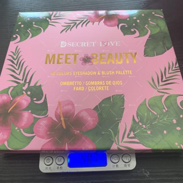 Палитра сенки за очи в с 42 цвята Meet beauty Hzs125 4
