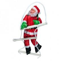 Коледна украса Дядо Коледа изкачващ стълба TV272