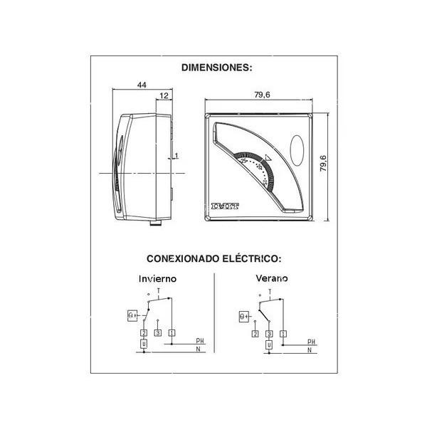 Механичен термостат с датчик за температура за електрическо ИЧ отопление 4