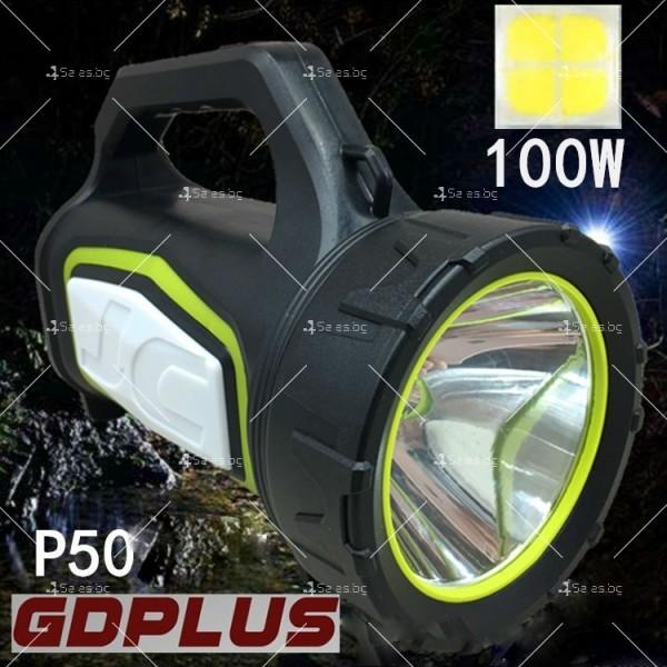Мощен преносим ръчен фенер с няколко вида светлинни сигнали FL43 2