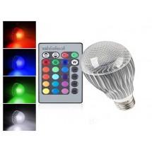 LED лампа с дистанционно управление - цветна
