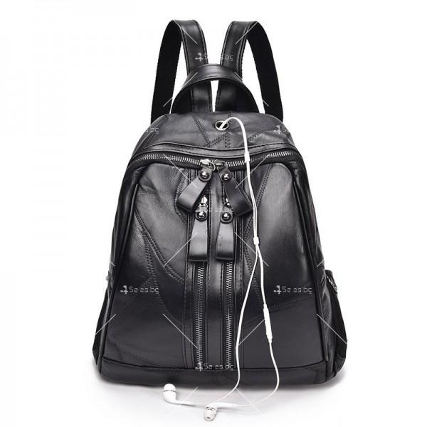 Компактна дамска раница, подарък дамска чанта и портмоне BAG82 4