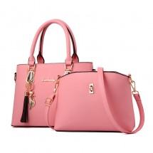 Дамска чанта с изчистен дизайн в комплект с мини вариант в същият цвят BAG86