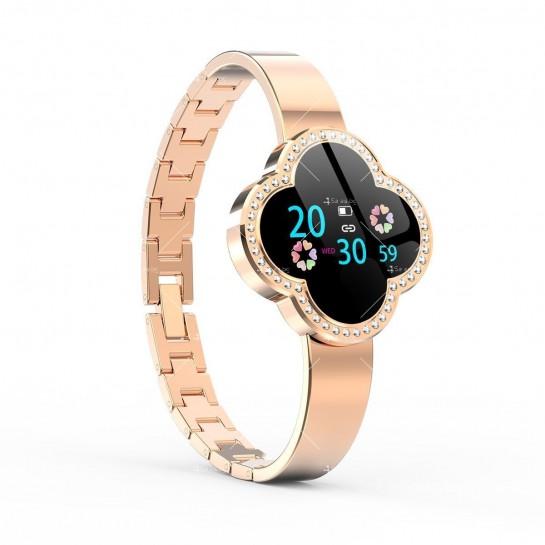 Дамски смарт часовник S6 с красив екран и инкрустирани камъни SMW45