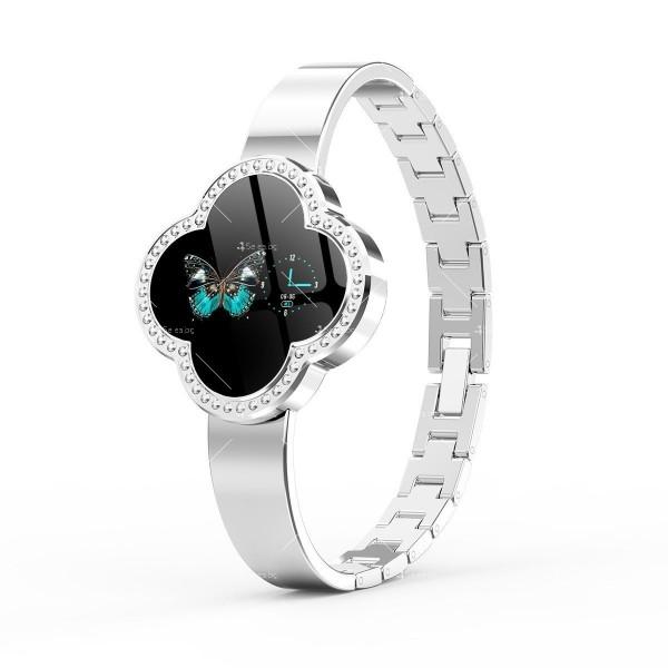 Дамски смарт часовник S6 с красив екран и инкрустирани камъни SMW45 2