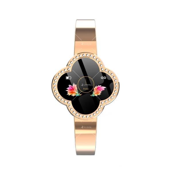 Дамски смарт часовник S6 с красив екран и инкрустирани камъни SMW45 3
