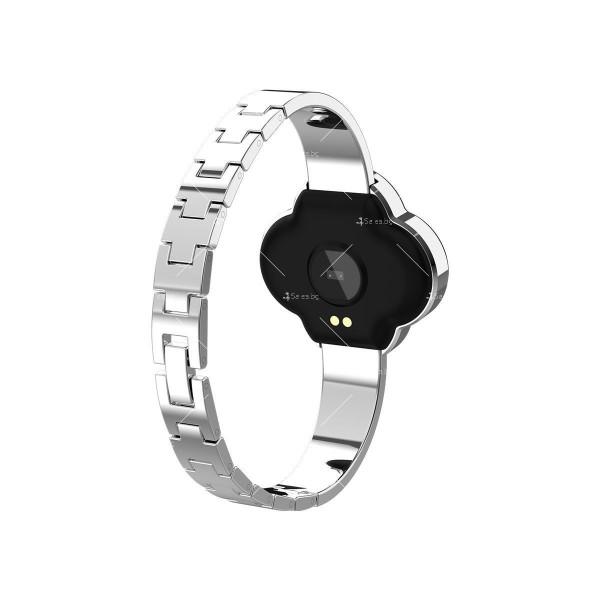 Дамски смарт часовник S6 с красив екран и инкрустирани камъни SMW45 4