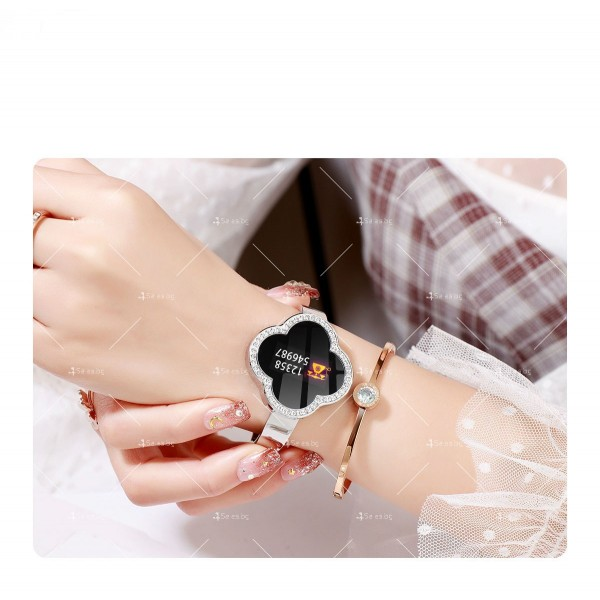 Дамски смарт часовник S6 с красив екран и инкрустирани камъни SMW45 6