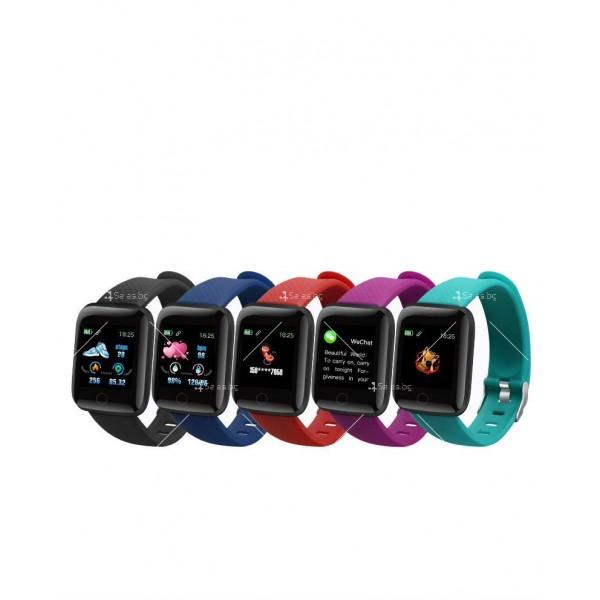 Водоустойчив смарт часовник 116 Plus с голям екран и висока издръжливост SMW44 6