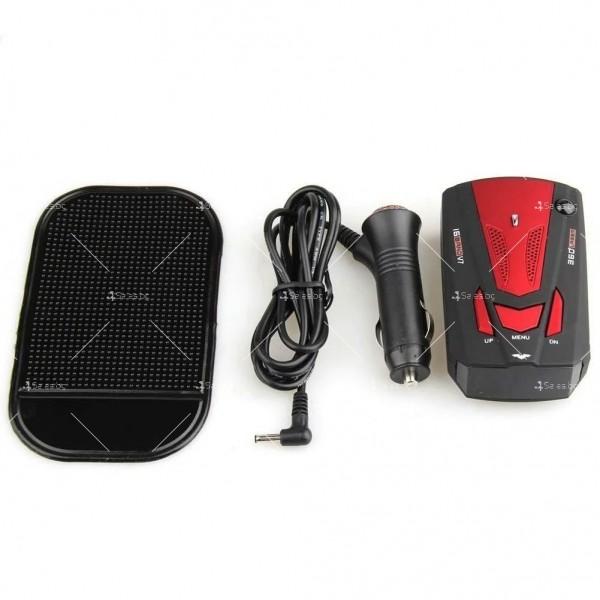Автомобилен лазерен антирадар V7 Band 16 AC87 3