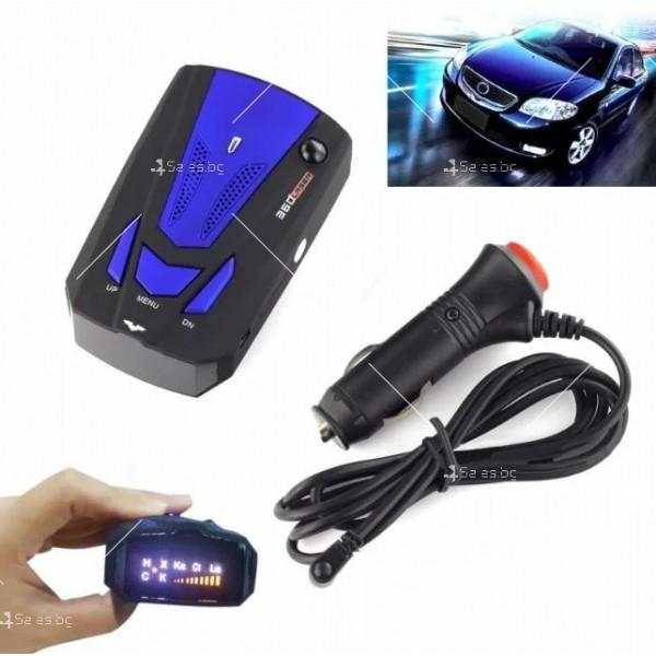 Автомобилен лазерен антирадар V7 Band 16 AC87 4