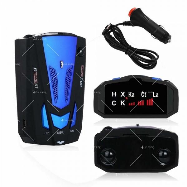 Автомобилен лазерен антирадар V7 Band 16 AC87 7