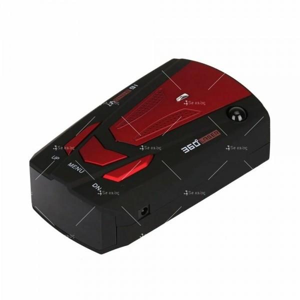 Автомобилен лазерен антирадар V7 Band 16 AC87 9