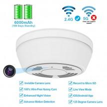 Скрита Wi-Fi камера с издръжлива батерия във формата на детектор за дим IP17