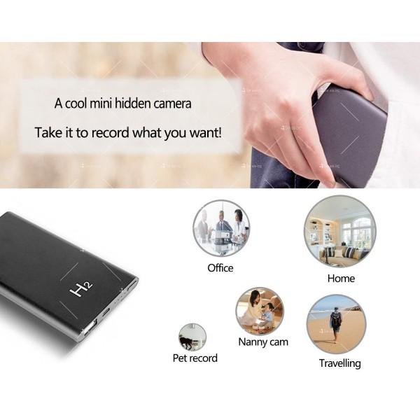Скрита камера във формата на преносима батерия за телефон с 10-часов запис IP18 5