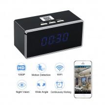 Шпионска Wi-Fi камера с 140-градусов обектив във формата на алармен часовник IP19