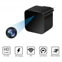 Скрита камера в зарядно за телефон с вграден сензор за движение IP21
