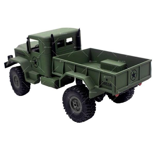 Детска количка тип американски военен камион с дистанционно управление TOY CAR-4 2