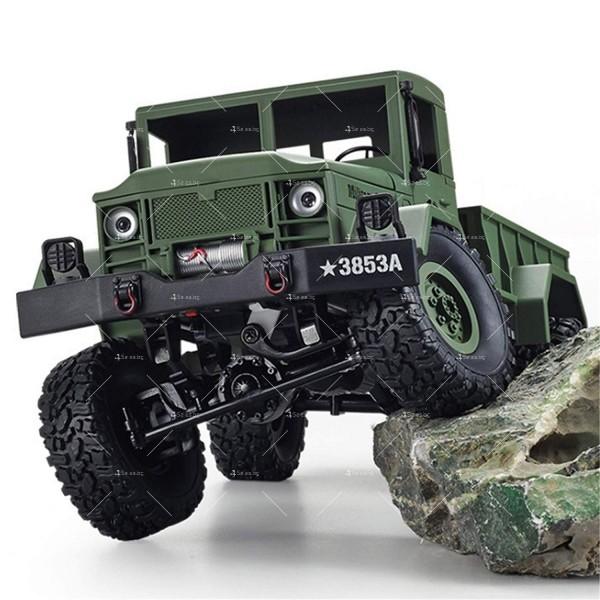 Детска количка тип американски военен камион с дистанционно управление TOY CAR-4 6