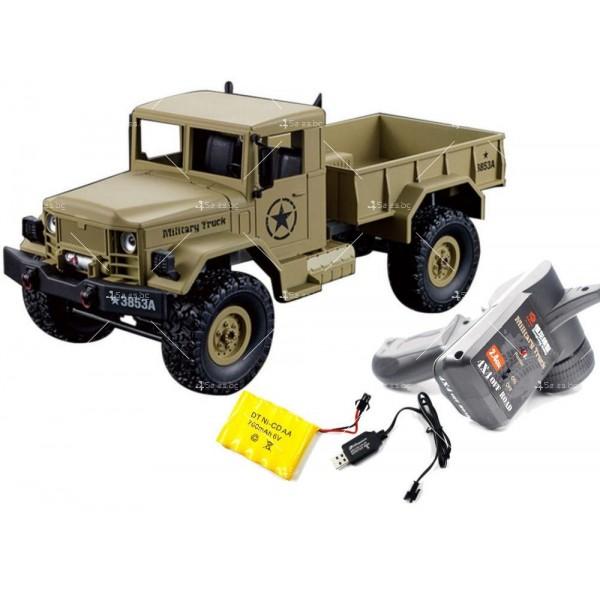 Детска количка тип американски военен камион с дистанционно управление TOY CAR-4 8