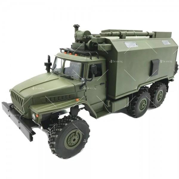 Детска количка тип руски военен камион модел NaughtyDragon с дистанционно TOYCAR8 1