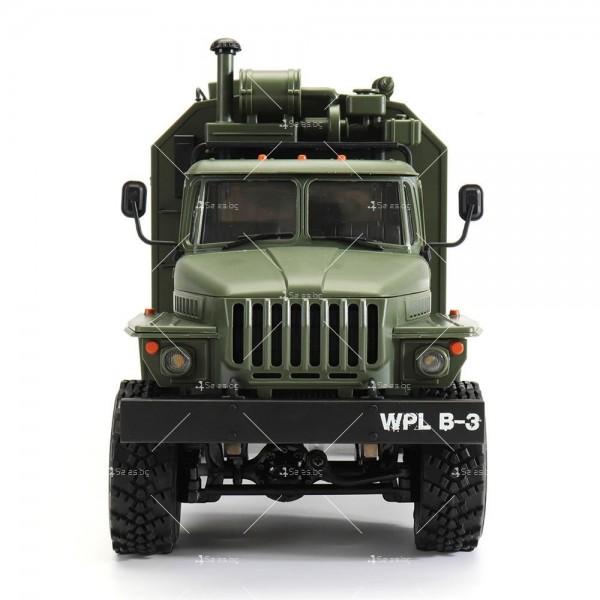 Детска количка тип руски военен камион модел NaughtyDragon с дистанционно TOYCAR8 2