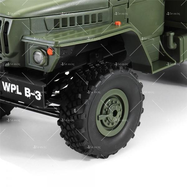 Детска количка тип руски военен камион модел NaughtyDragon с дистанционно TOYCAR8 4