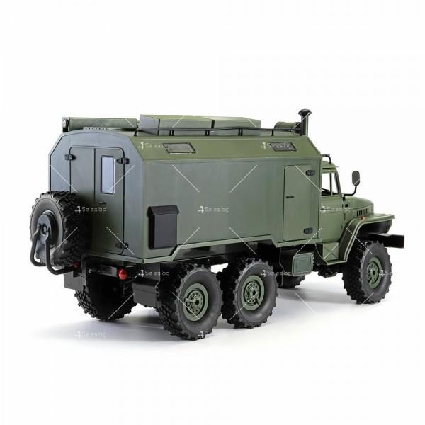 Детска количка тип руски военен камион модел NaughtyDragon с дистанционно TOYCAR8 5