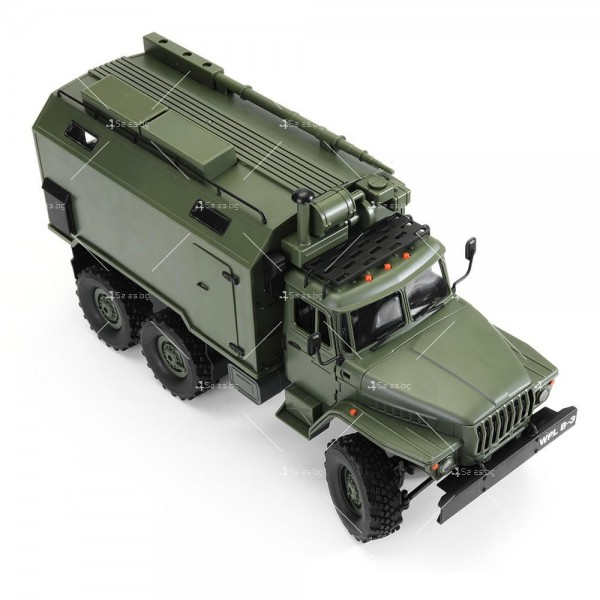 Детска количка тип руски военен камион модел NaughtyDragon с дистанционно TOYCAR8 10